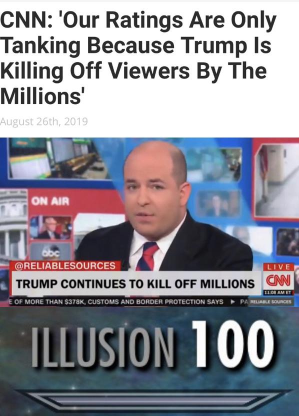 CNN: 100 all attempts to mislead the public are successful - meme
