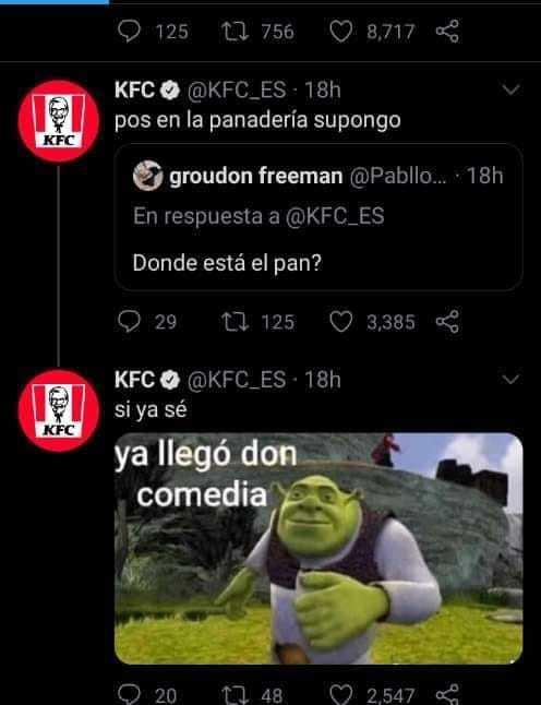 KFC le sabe demasiado - meme