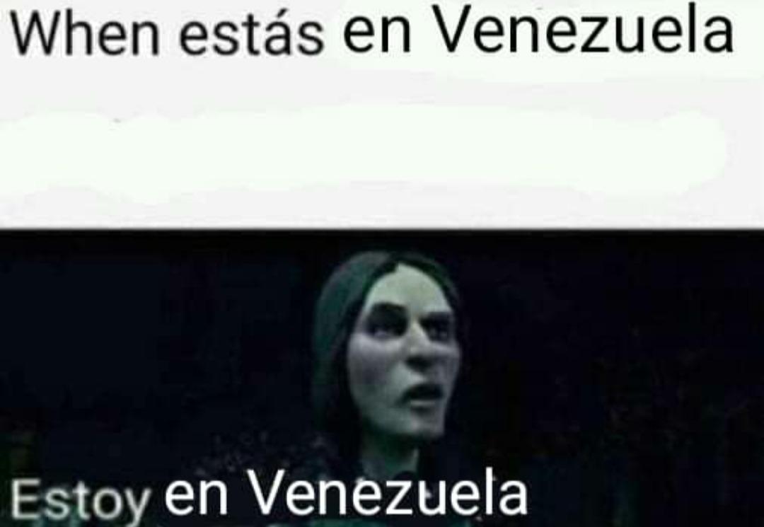 Estoy en Venezuela xD *c muere de tanta flacura* - meme