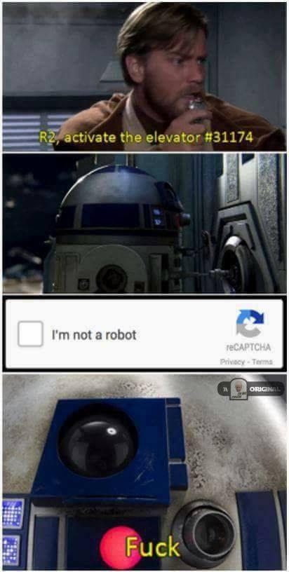 I'm not human - meme