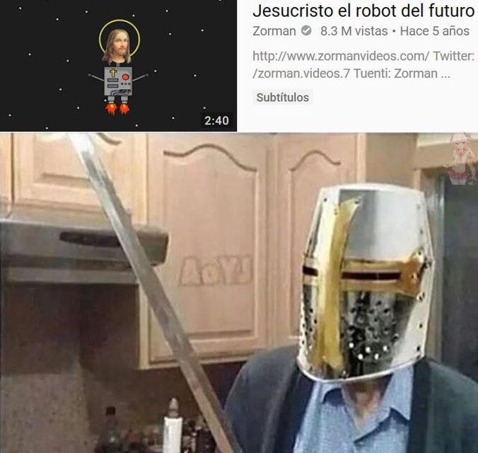 jesucristo el robot del futuro - meme