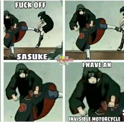 dégage sasuke... j'ai un vélo invisible - meme