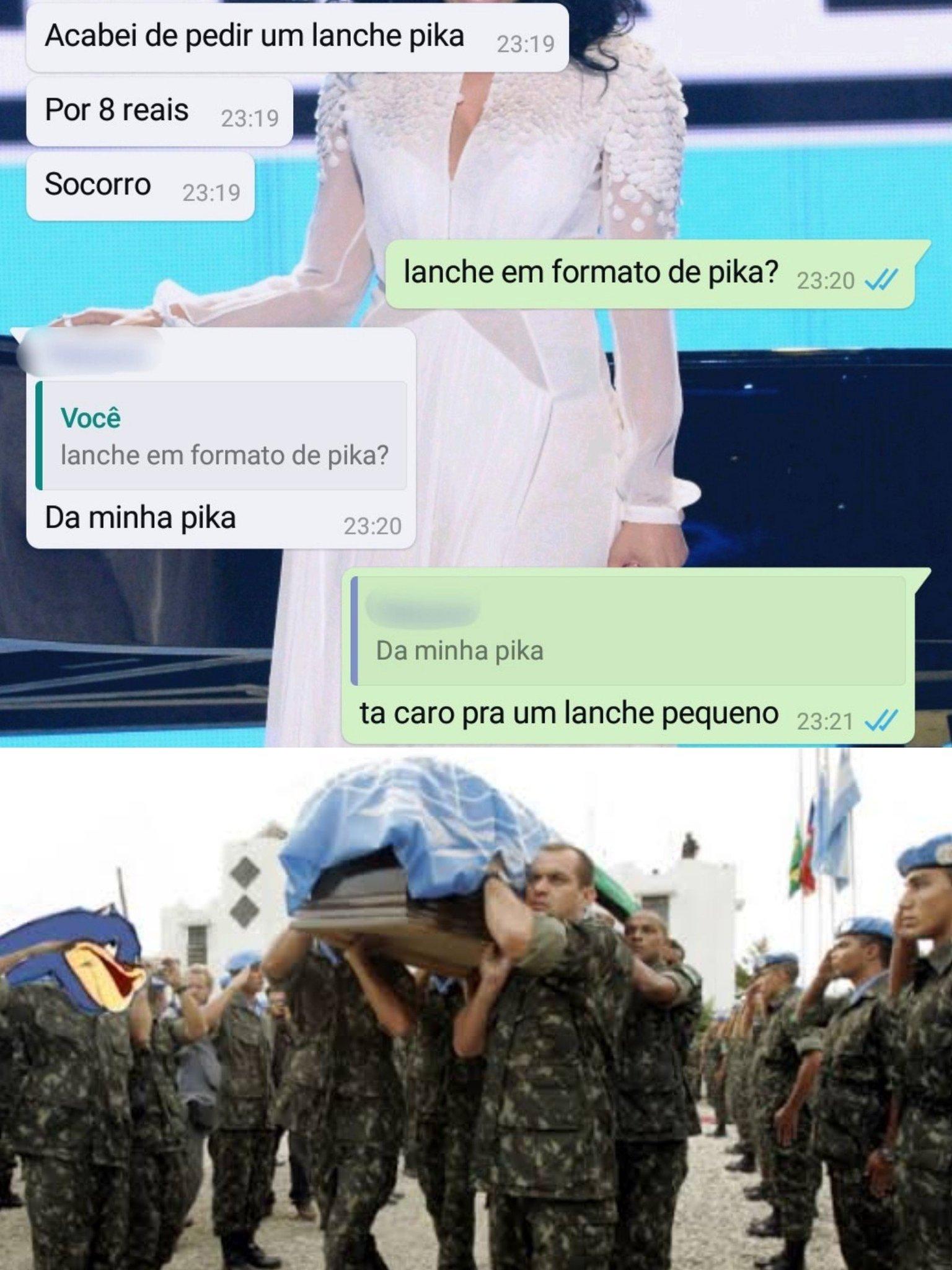 SOS: Soldado morreu na hora! - meme