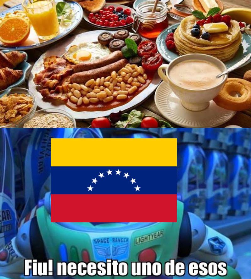 La mejor comida de venezuela - meme