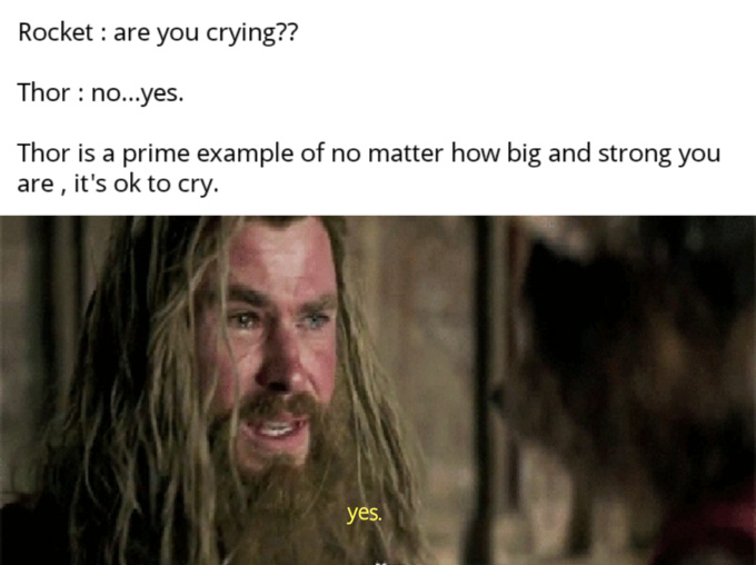 A good cry is a quality experience. - meme