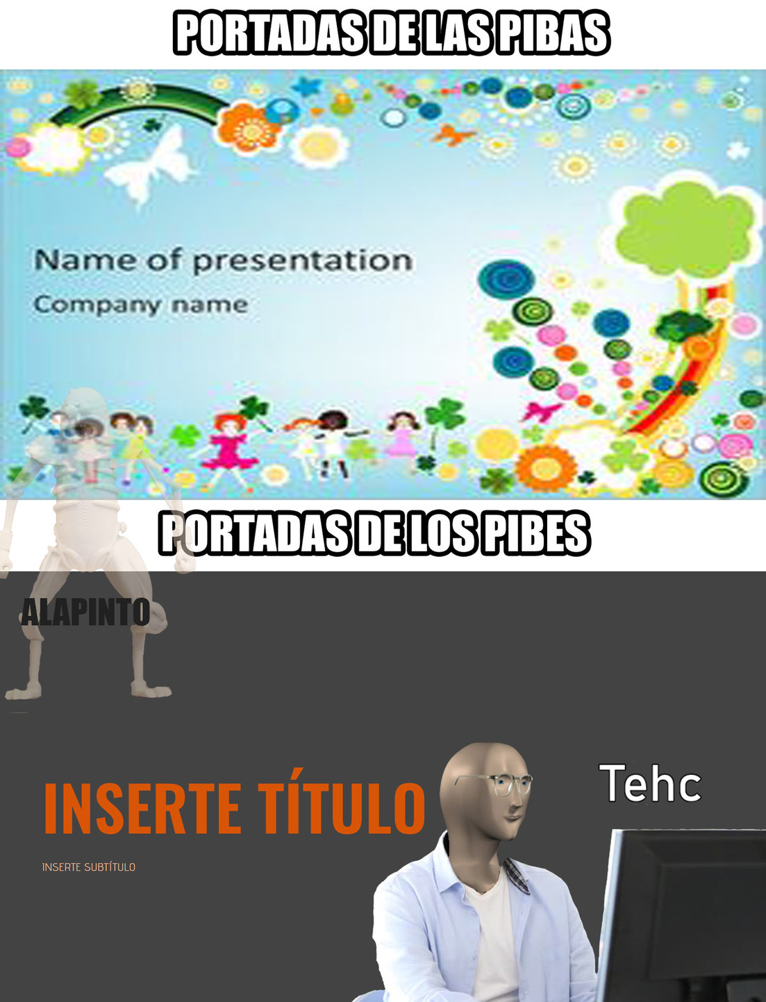 17/20 *PORTADAS DE POWER POINT* - meme