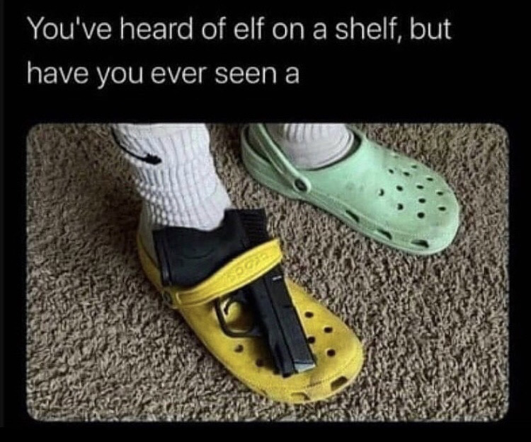 Glock on a croc - meme