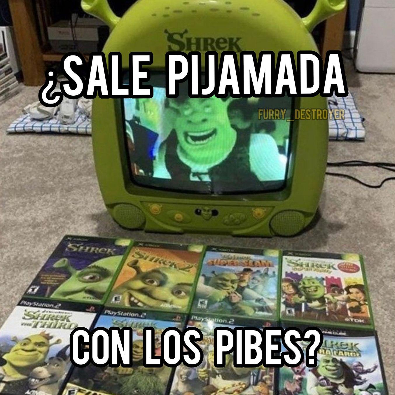 Pinta maratón de Shrek? - meme