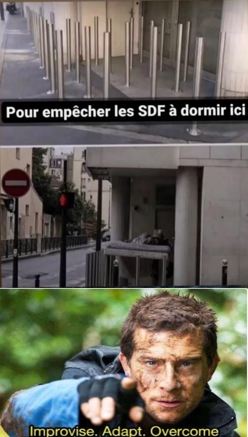 Le titre est SDF - meme