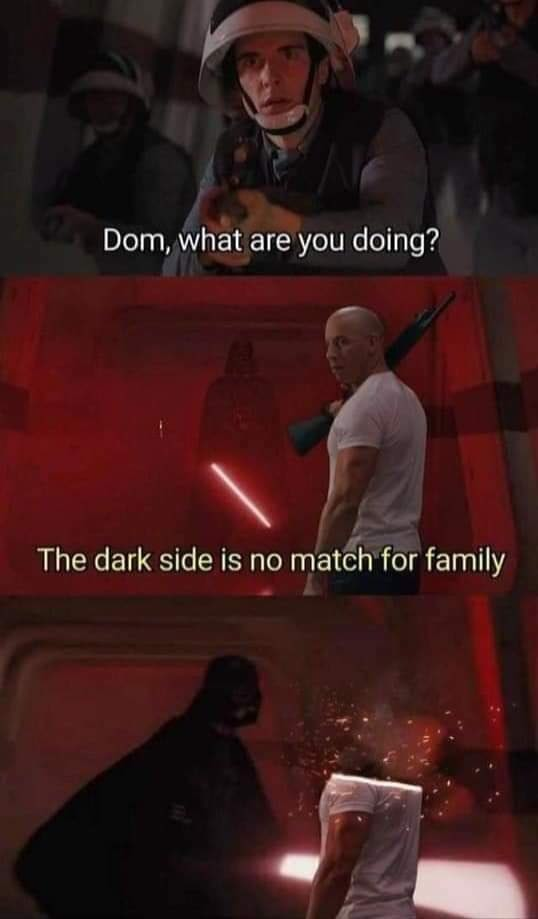You don't know the power of the dark side - meme