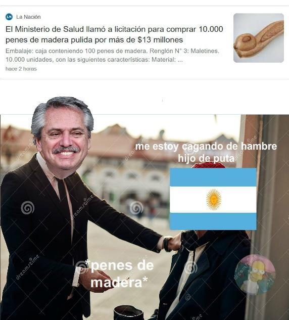 Argentina, cada dia más cerca de venezuela - meme