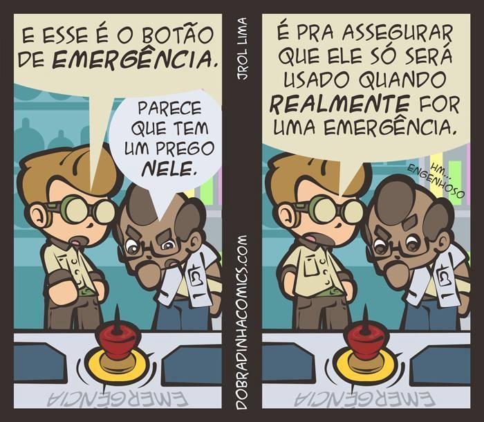 Botão de Emergência - meme
