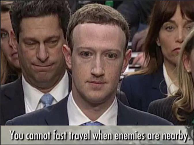 Zuckerberg trying to escape - meme
