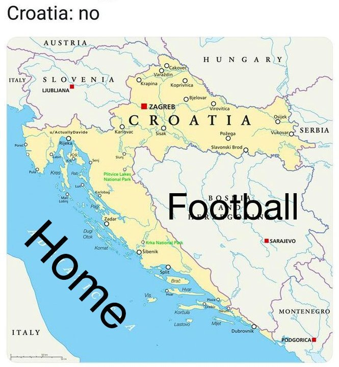 Sorry brits, it's not coming home - meme