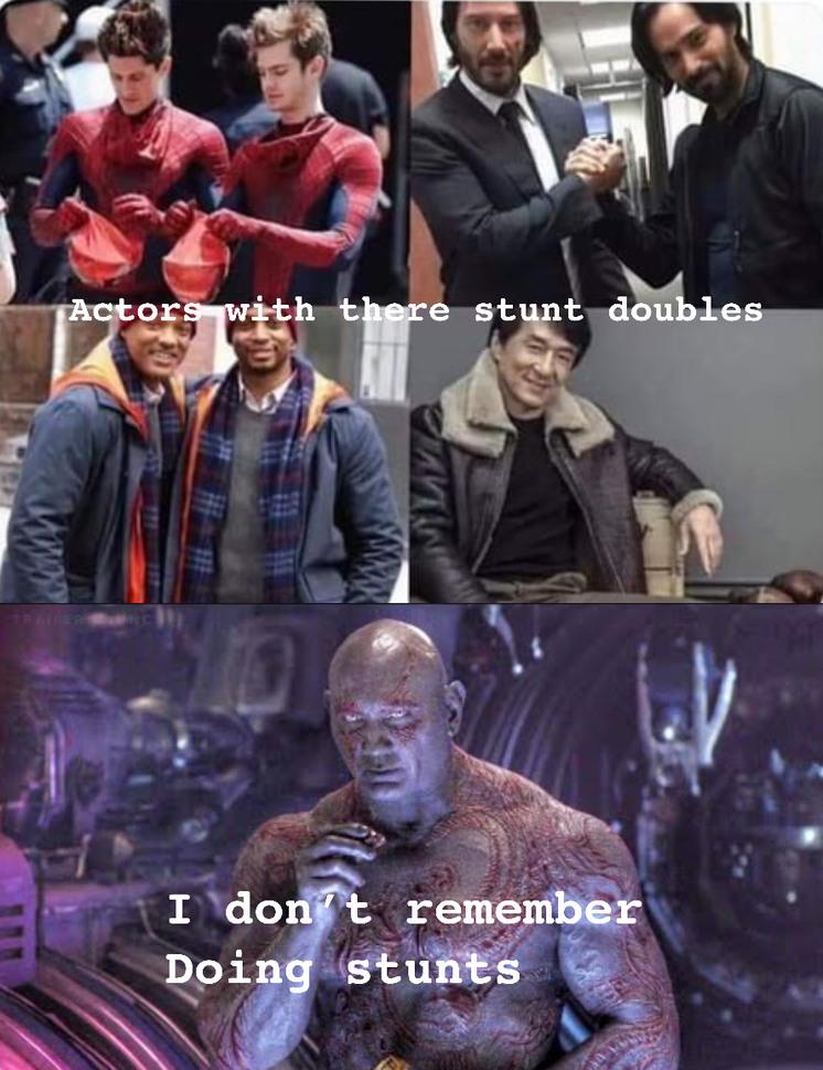I don't remember doing stunts - meme