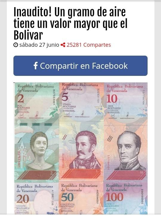 El bolivar no vale nada - meme