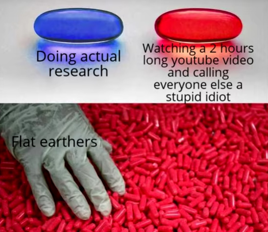 flat earthers - meme