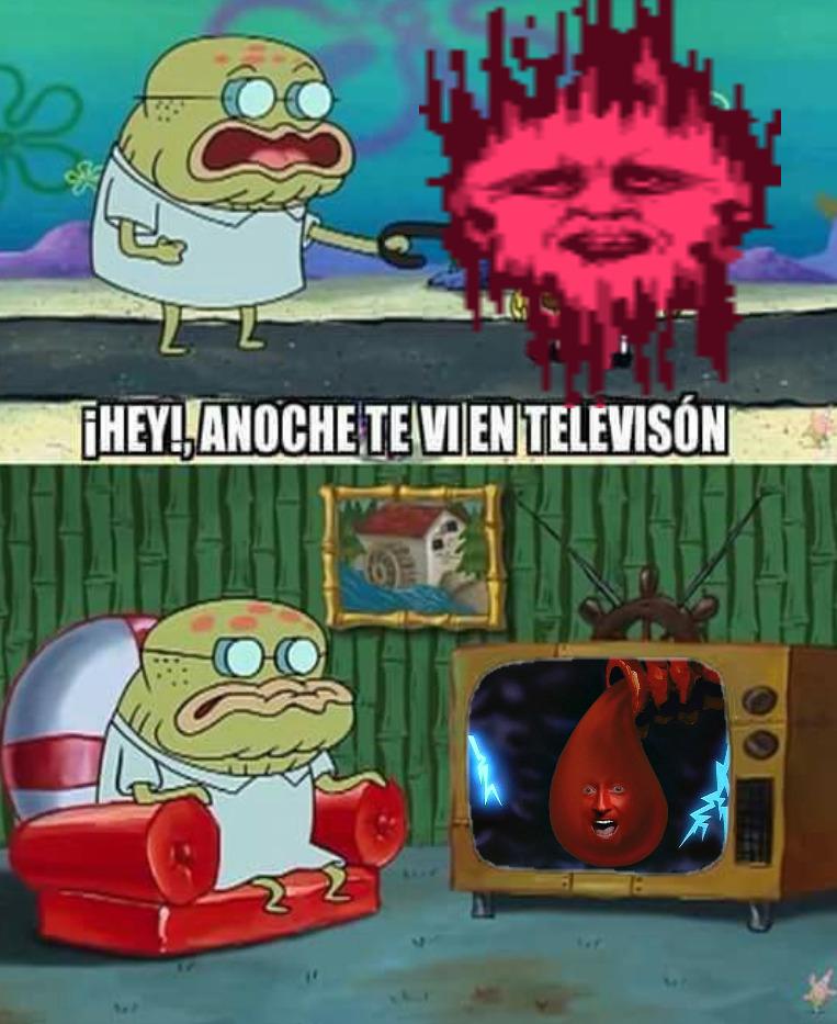 ¡Hey!,anoche te vi en televisión Spirit - meme