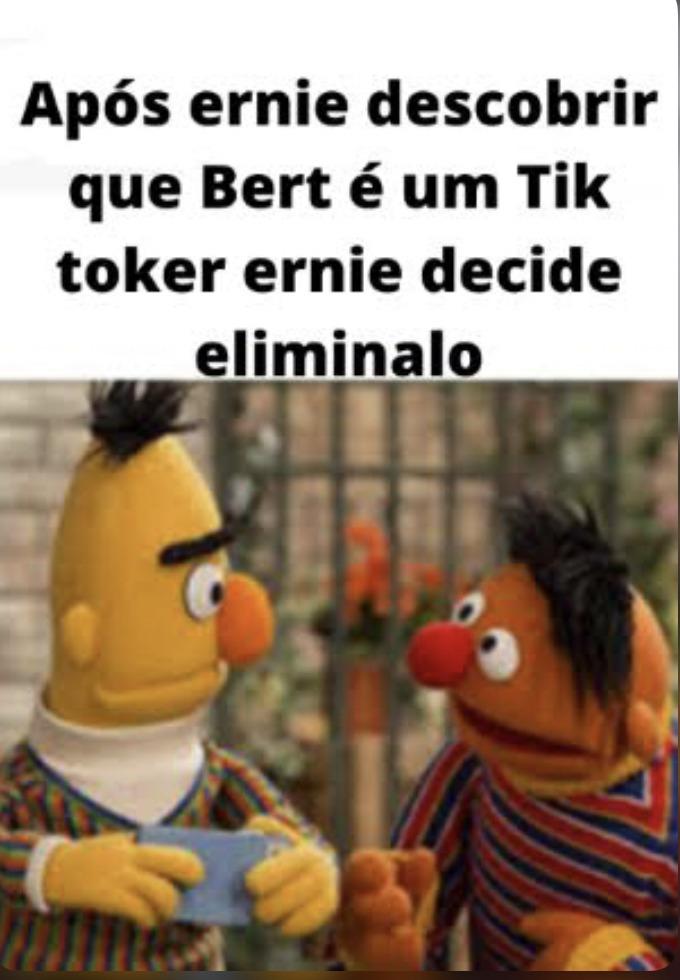 Concordam com o Ernie? - meme