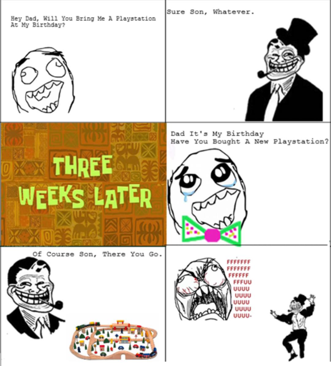 Troll Dad 3 - meme