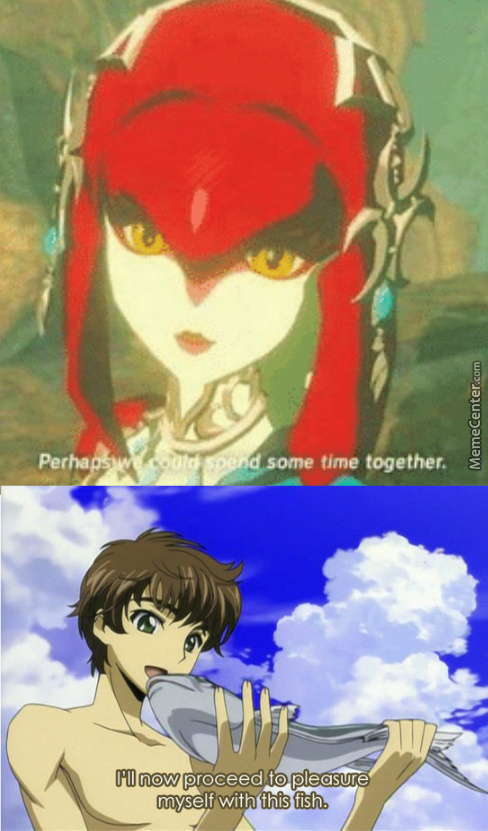 Mipha is best waifu - meme