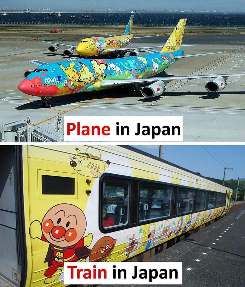 Train and plane of japan | gagbee.com - meme