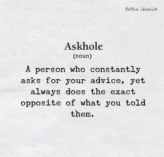 How many askholes are there in your life right now? - meme