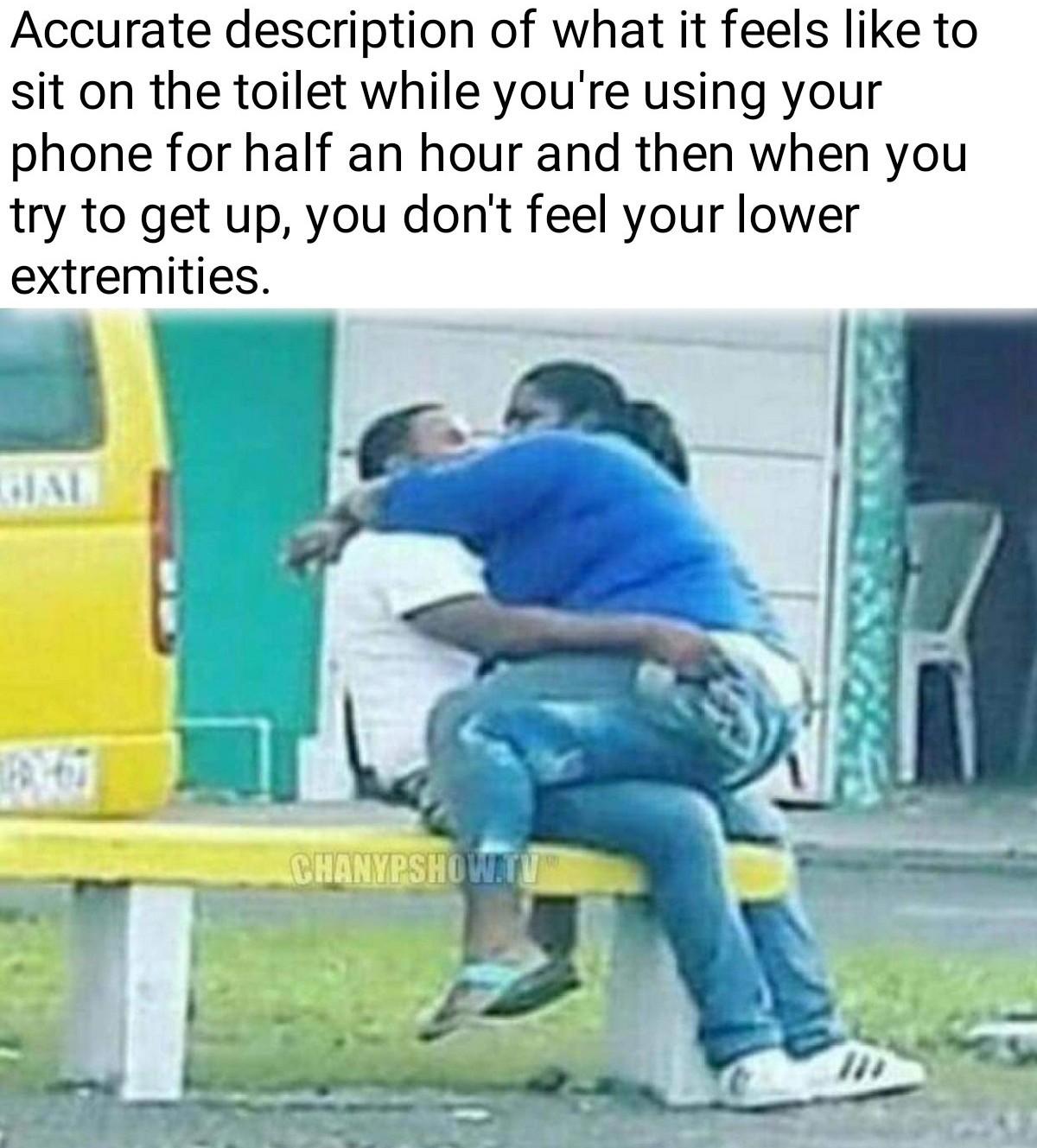Can't feel my legs - meme
