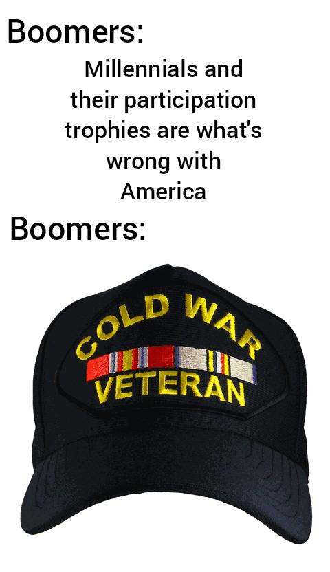 Boomer hypocrite - meme
