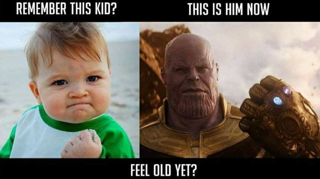 Kid to thanos - meme