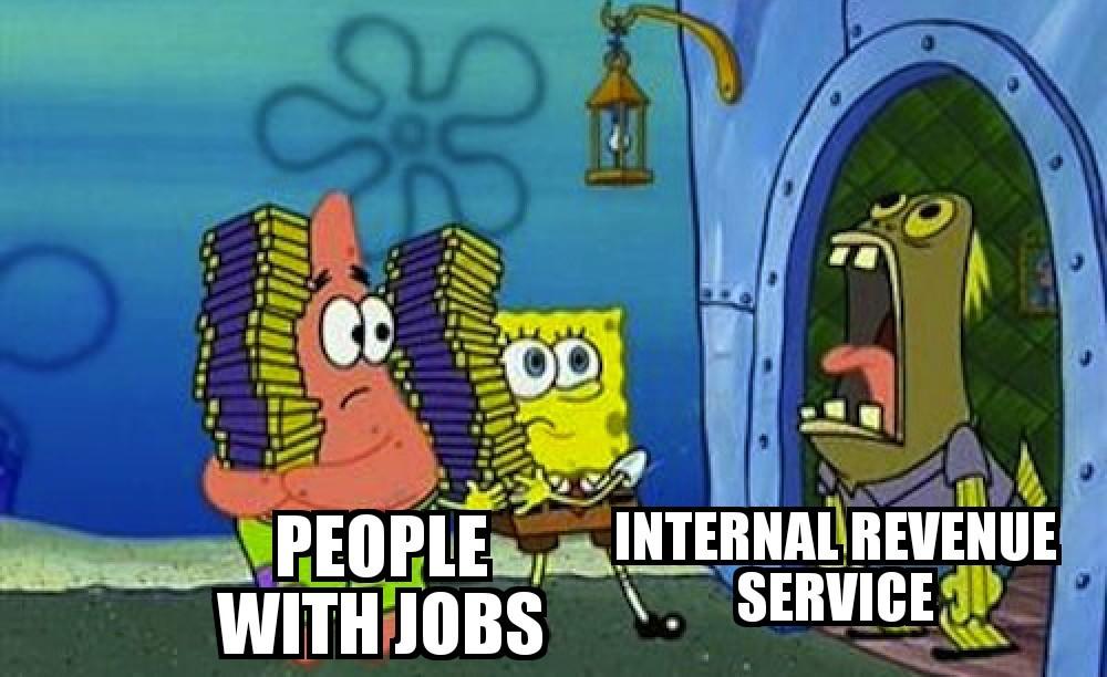 Damn IRS - meme