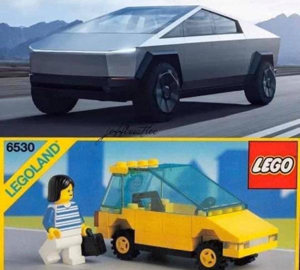 Tesla lego truck - meme