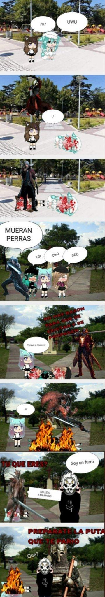Dante Anti GarchaTubers 4 - meme