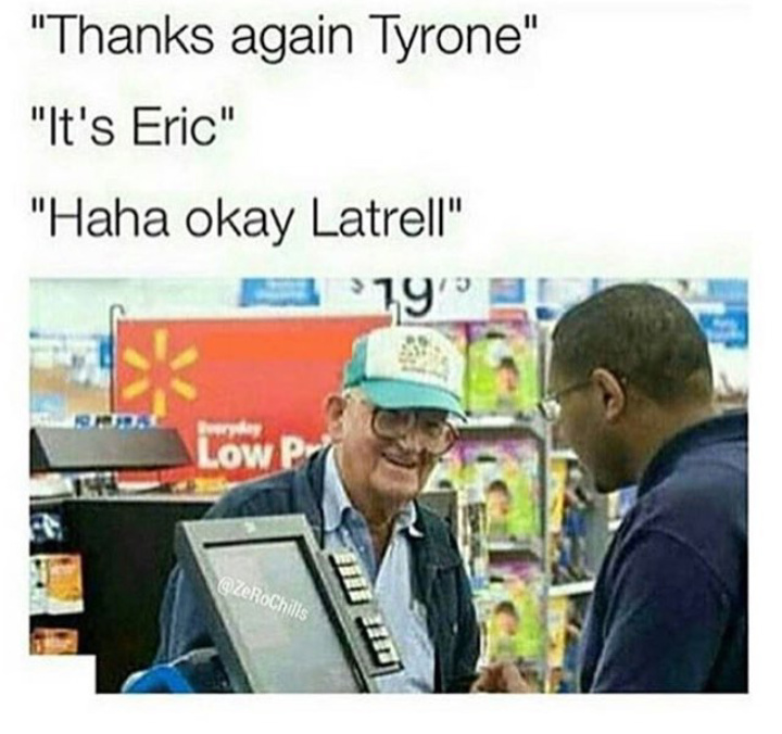 4th comment is Tyrone - meme