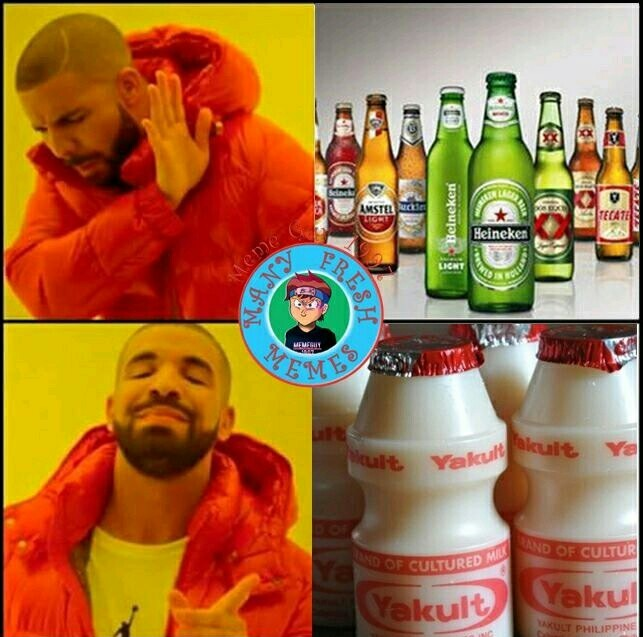 Yakult is love - meme