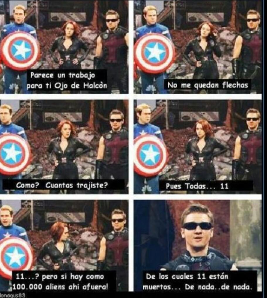 Once enemigos menos!! Gracias Clint!! - meme