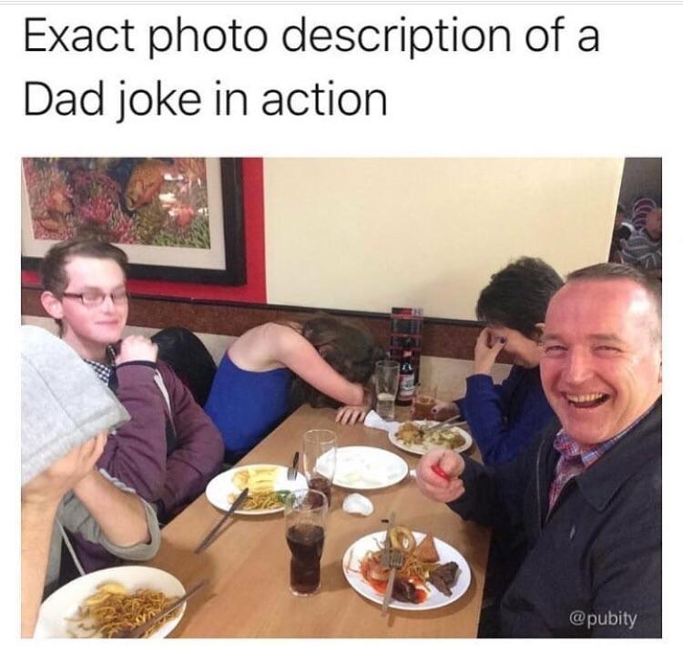 Dad joke in action - meme