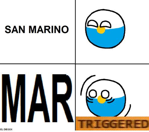 Pobre san MARino - meme