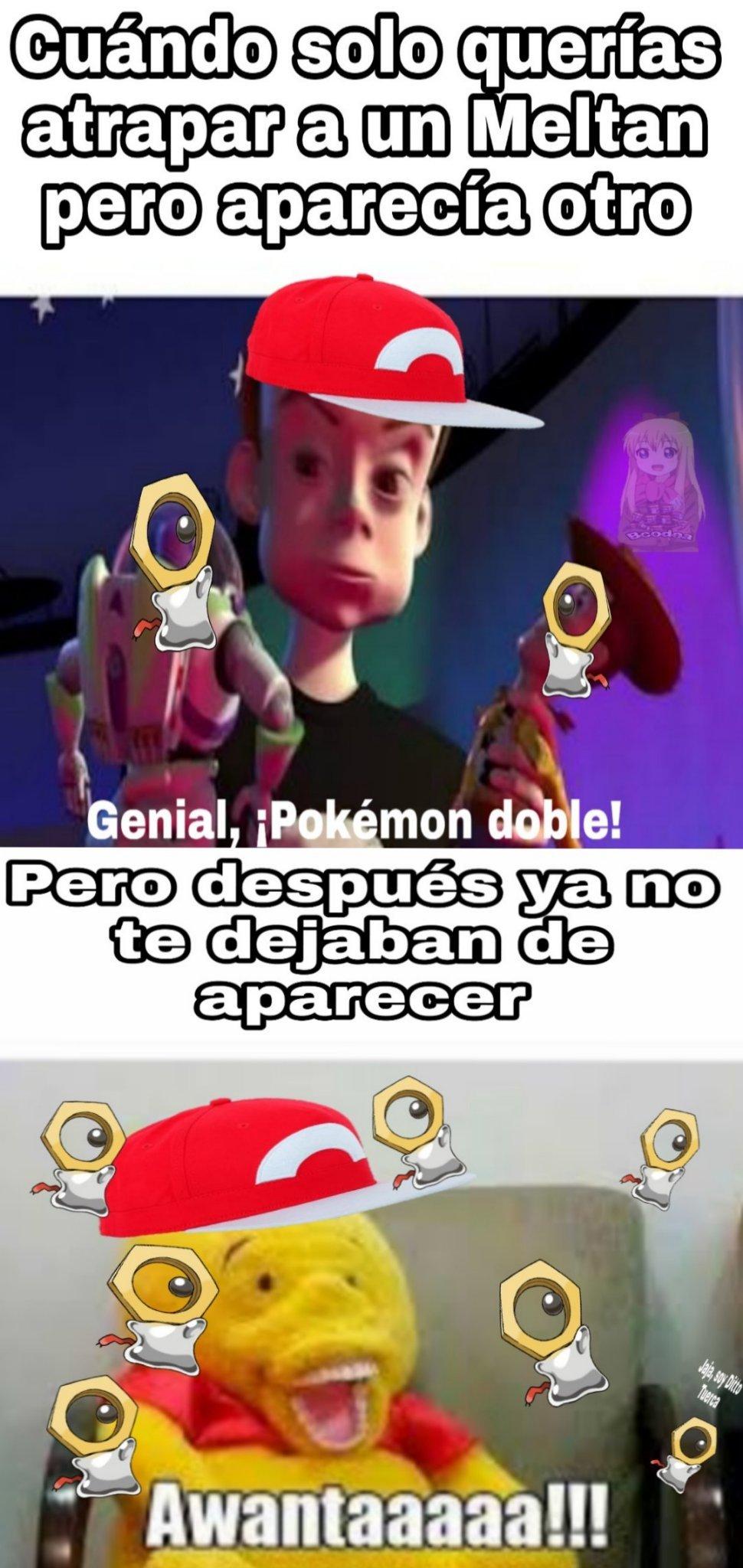 3 memes seguidos de Pokémon