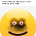 Yellow markers after you use them over any other color