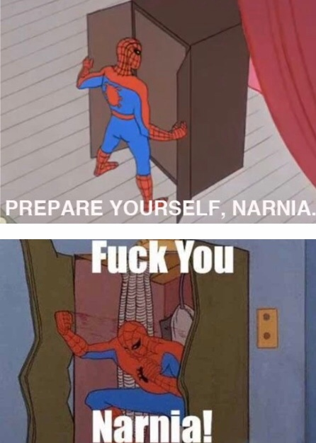 Fuck Narnia - meme