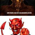 Al trino del diablo(tu vieja)