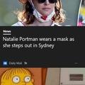 'Wears' a mask...