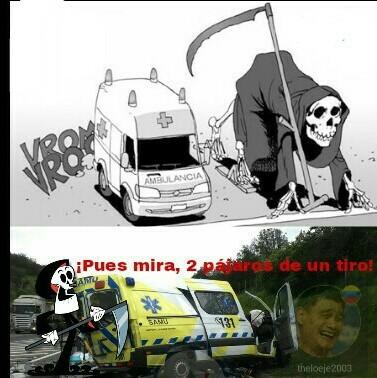 El titulo estaba en la ambulancia - meme
