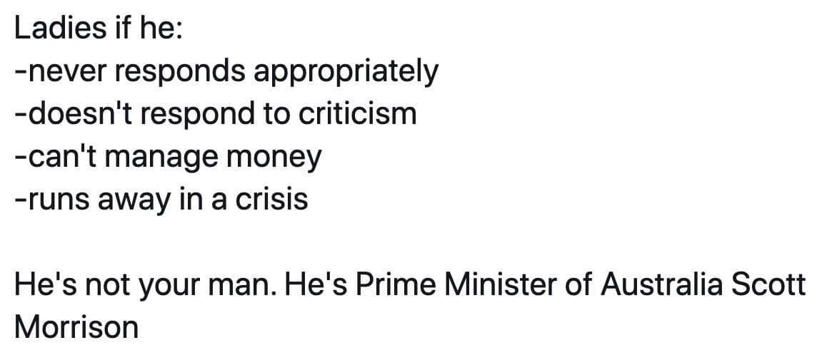 Australia's PM kinda sucks - meme