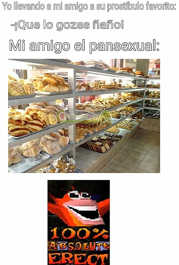 La panadería es un prostíbulo para el pansexual - meme