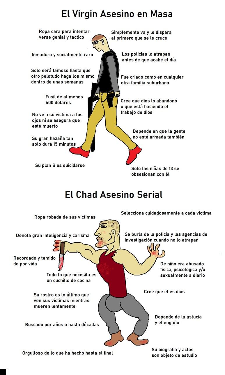Virgin vs Chad vertical para los que lloran por no saber hacer zoom - meme