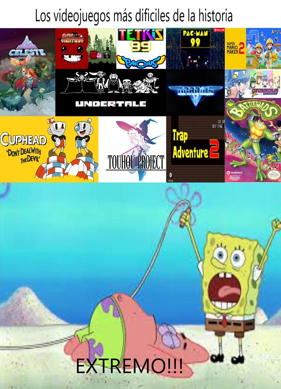Los videojuegos más Dificiles son EXTREMO!!! - meme