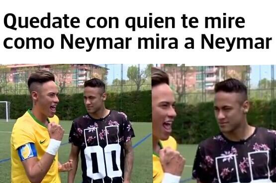 El titulo ama a Neymar - meme