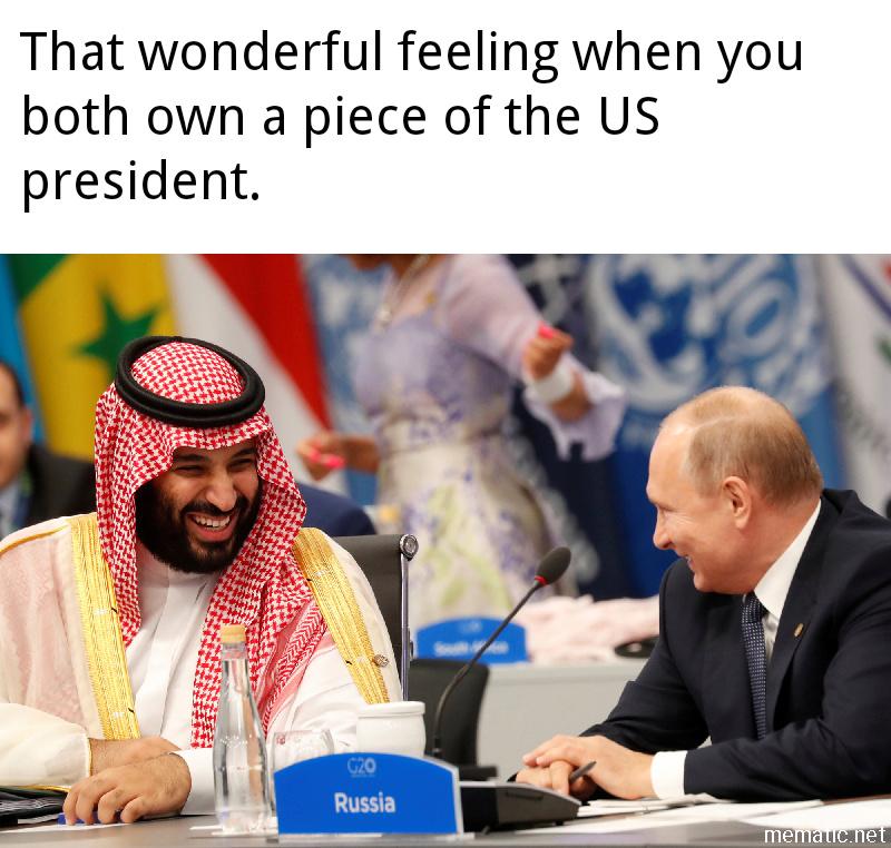 Putin and Prince MBS. - meme